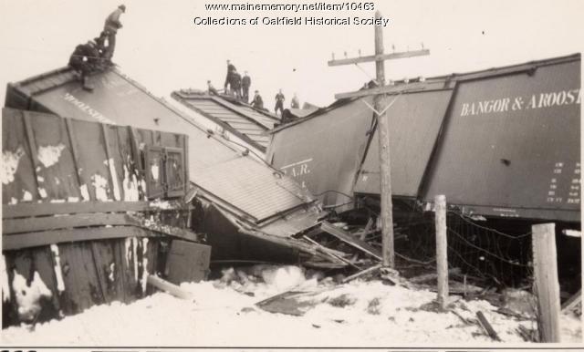 Bangor and Aroostook train wreck, ca. 1945