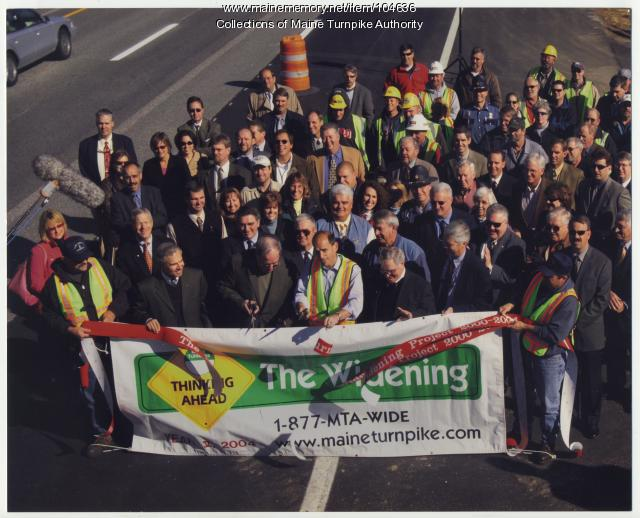 Completion of Maine Turnpike widening, Arundel, 2004