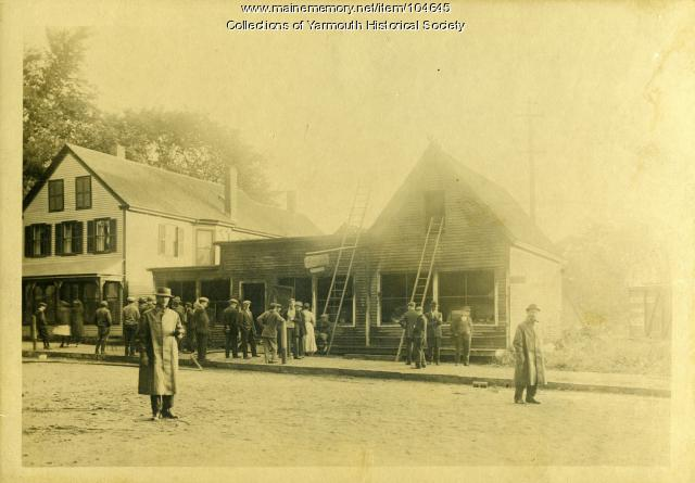 Aftermath of fire at Bernstein's Store, Yarmouth, 1913