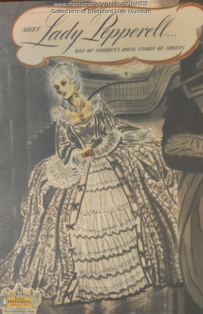 Lady Pepperell sheets, Biddeford, ca. 1926
