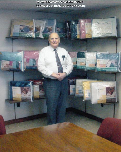 Rene W. Boisvert, founder of Biddeford Textile, Biddeford, ca. 1997