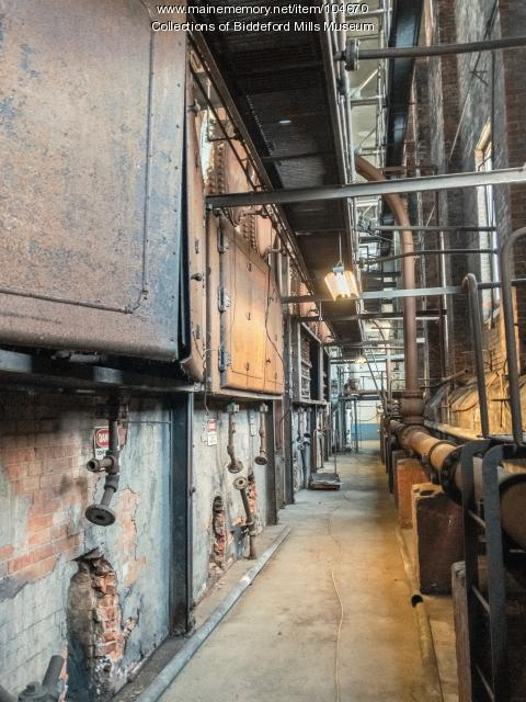Coal fired boilers at Pepperell Mills, Biddeford, 2017