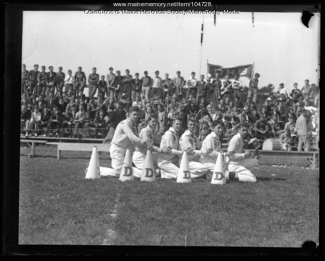 Deering High School cheerleaders, ca. 1930