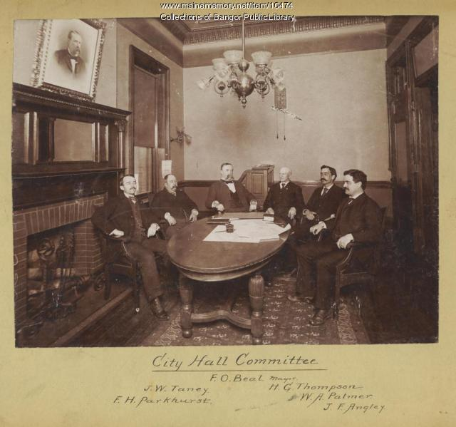 Bangor City Hall Committee, ca. 1894