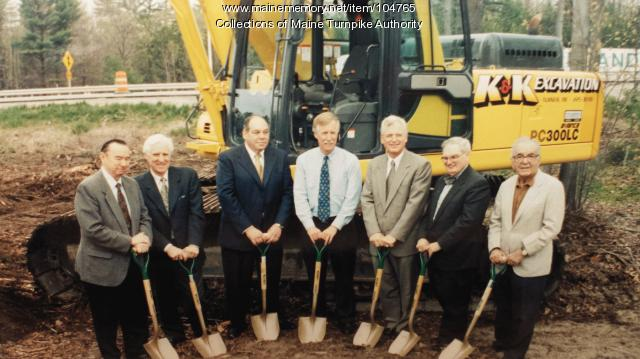 Maine Turnpike widening and modernization ground breaking, South Portland, 2000