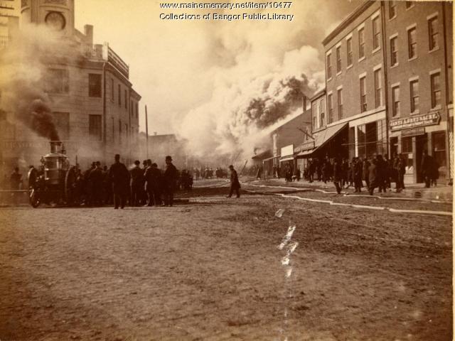 Pickering Square Fire, Bangor, 1891