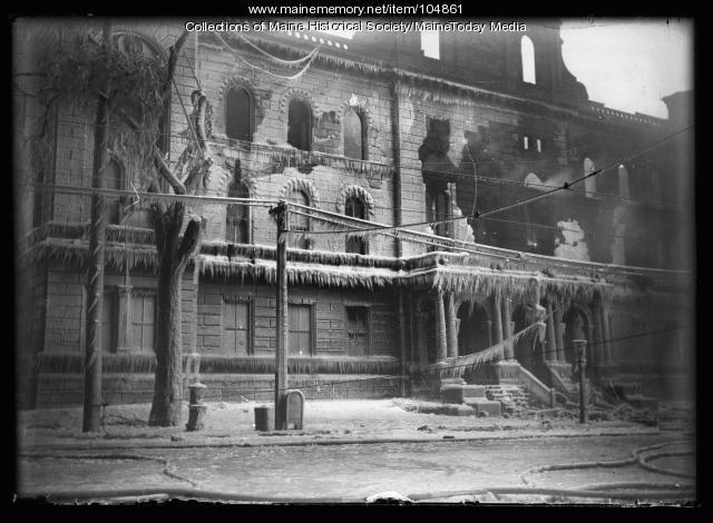 Fire damage, ca. 1920