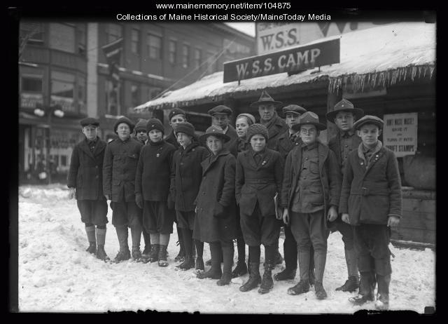 War savings stamps camp, Portland, 1920