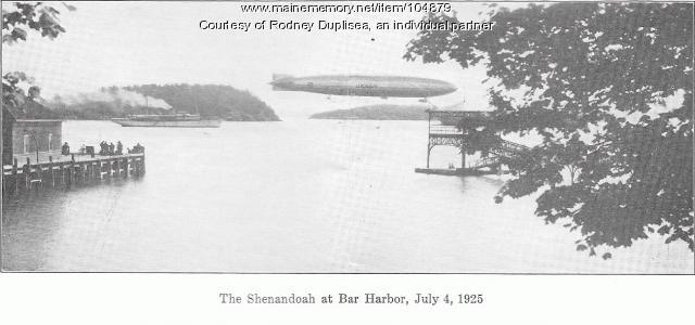The Shenandoah Air Ship at Bar Harbor, July 4, 1925