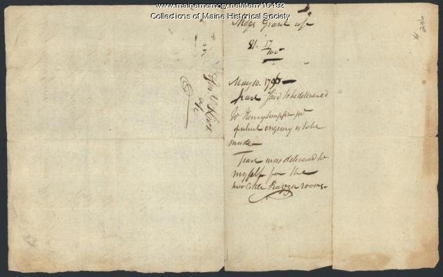 Henry Knox to Moses Grant, Boston, May 10, 1796