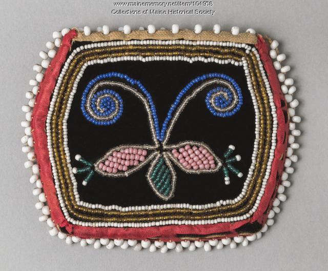 Wabanaki beaded pouch, ca. 1860