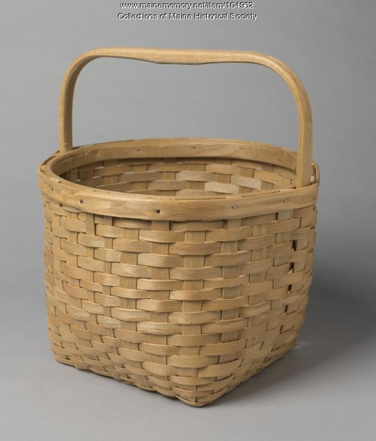 Jim Tomah carry-all basket, Houlton, 1998