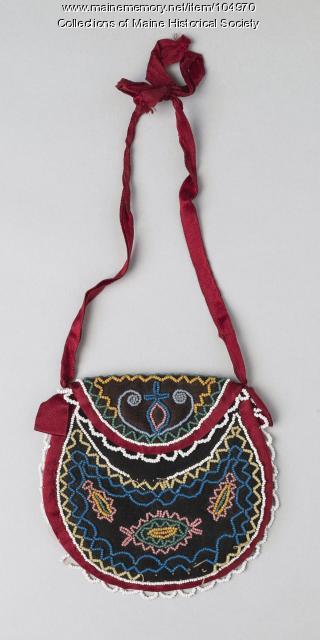 Wabanaki beaded pouch, ca. 1890
