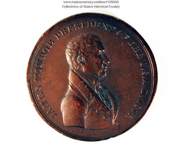 Commemorative Monroe Indian peace medal, ca. 1840