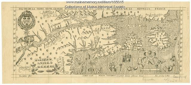 Figure de la Terre Neuve, grande riviere de Canada, et cotes de l'ocean en la Nouvelle France, 1618