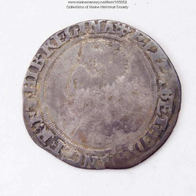 Queen Elizabeth I English shilling coin, Richmond Island, 1560