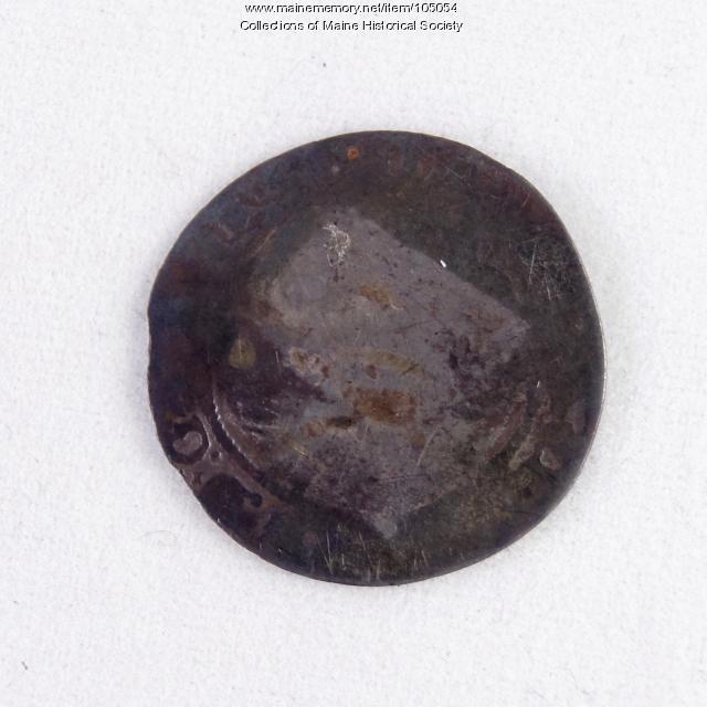 Queen Elizabeth I English sixpence coin, Richmond Island, 1568