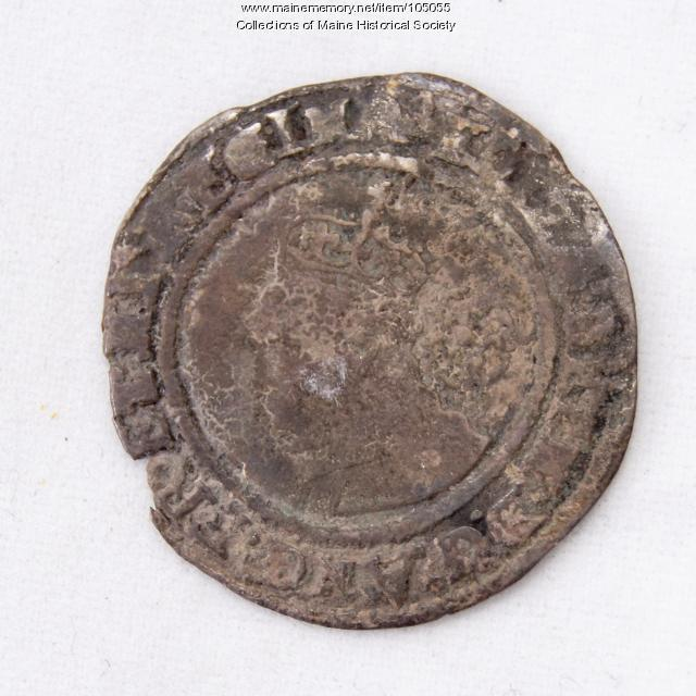 Queen Elizabeth I English sixpence coin, Richmond Island, 1569