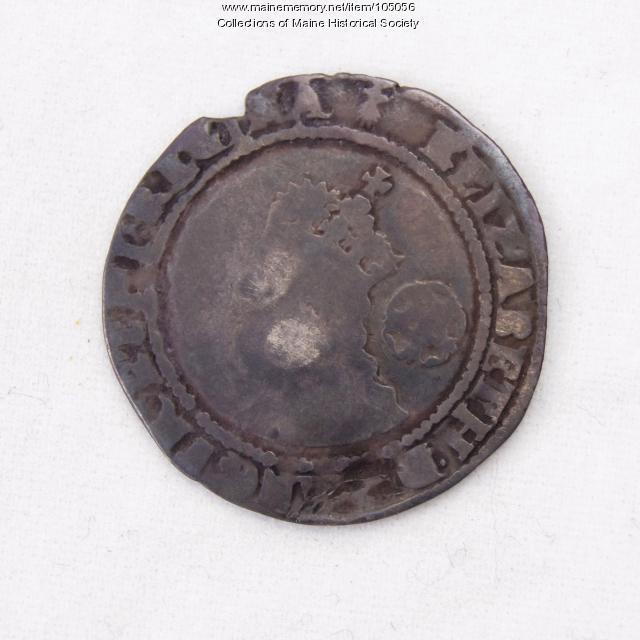 Queen Elizabeth I English sixpence coin, Richmond Island, 1572