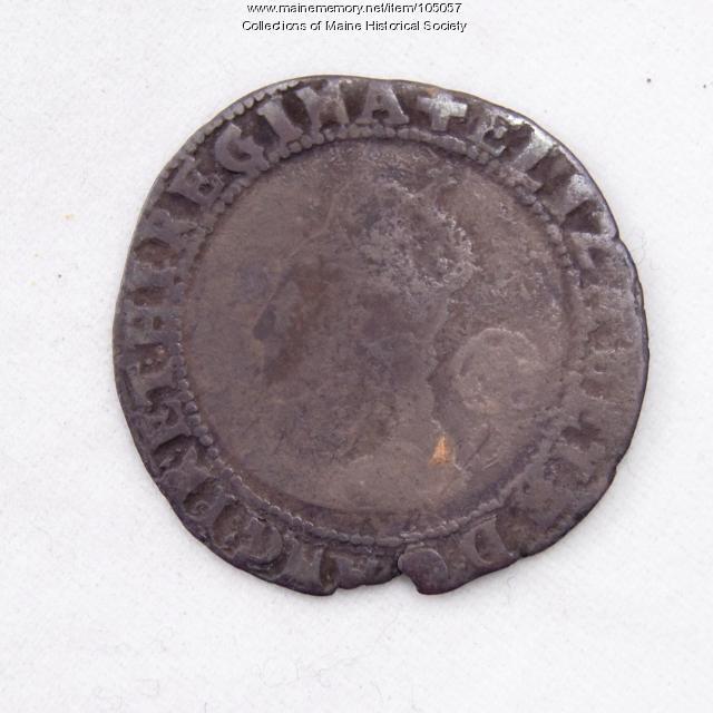Queen Elizabeth I English sixpence coin, Richmond Island, 1578