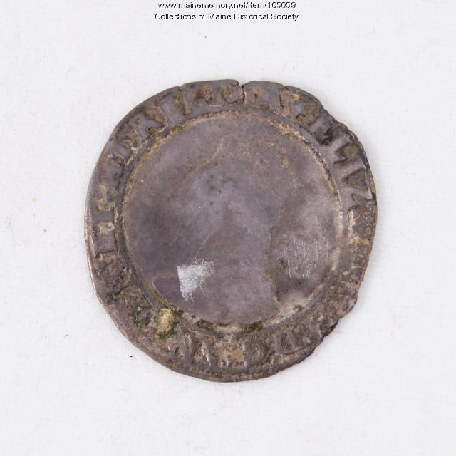 Queen Elizabeth I English sixpence coin, Richmond Island, 1580