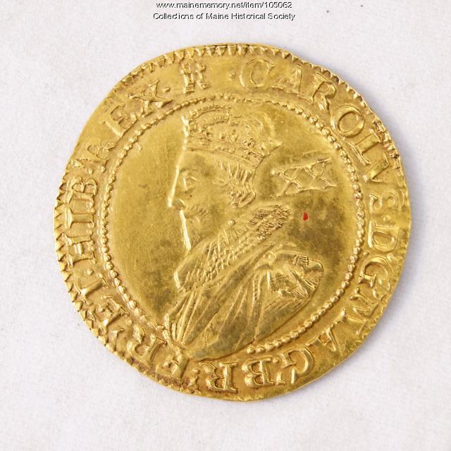 King Charles I English Unite coin, Richmond Island, 1627