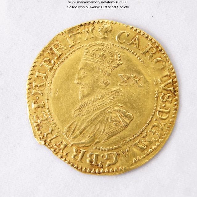 King Charles I English Unite coin, Richmond Island, 1626