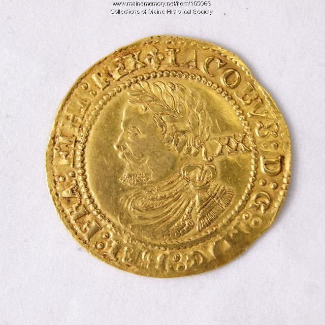 King James I English Laurel coin, Richmond Island, 1623