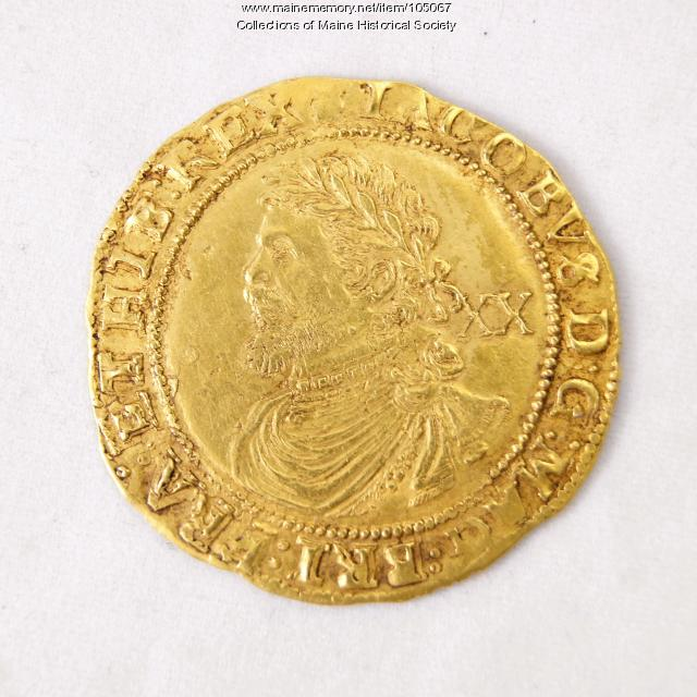 King James I English Laurel coin, Richmond Island, 1621