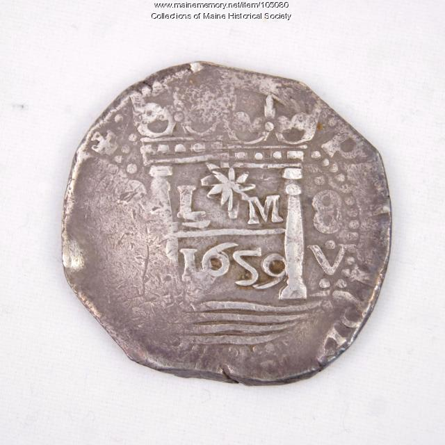 Peruvian Eight Reales Cob Coin, Castine, 1659