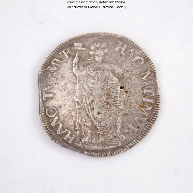 Dutch three guilder (gulden) coin, Castine, 1682