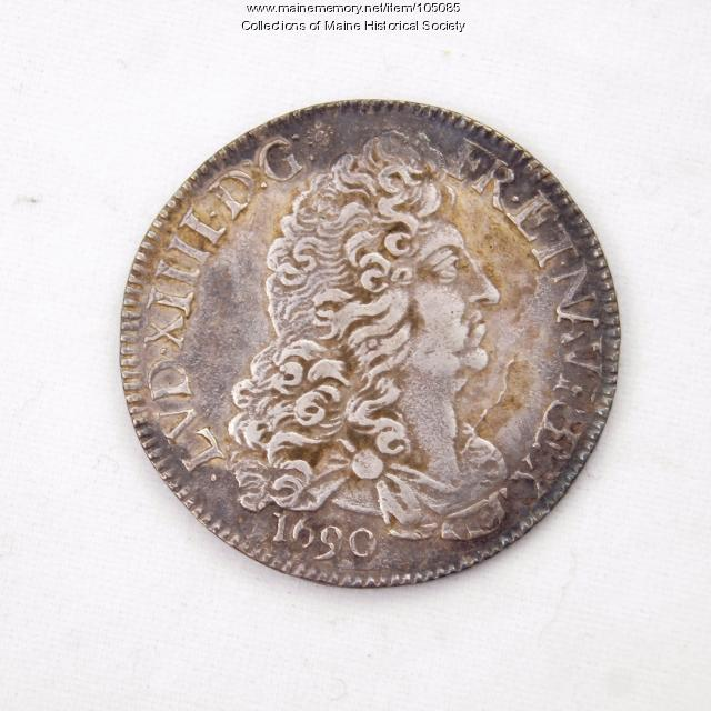 French 1/2 Ecu coin, Louis XIV, Castine, 1690