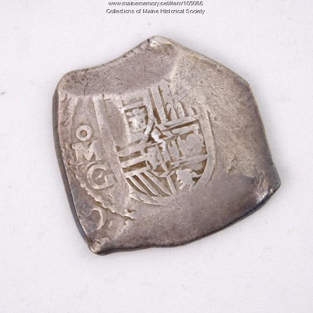 Mexican Eight Reales Cob coin, Castine, ca. 1690