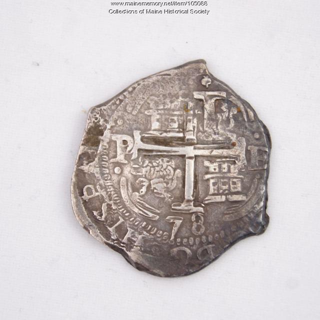 Potosi (Bolivian) Eight Reales Cob coin, Castine, 1678
