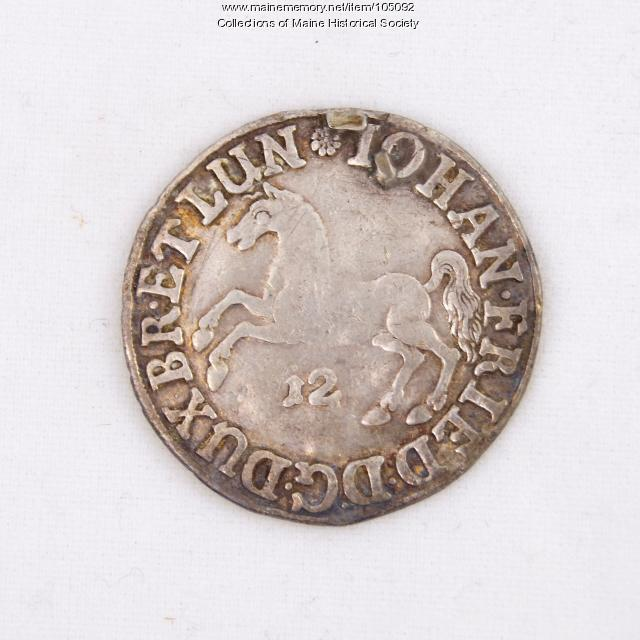 German Schilling coin, Castine, 1667