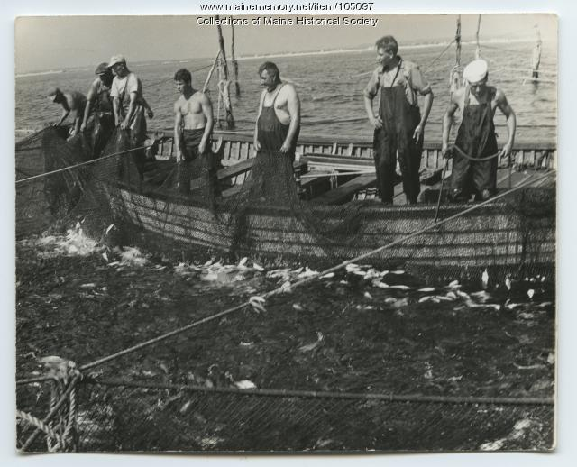 "Fishermen on board ""Midnight Sun,"" ca. 1935"