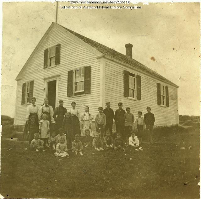 North End School class picture, Westport Island, ca. 1895