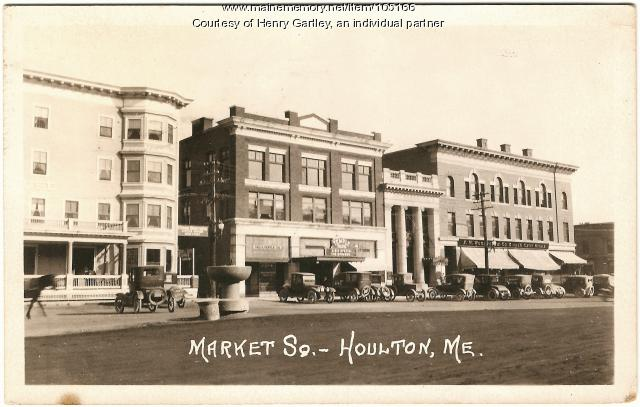 South side of Market Square, Houlton, ca. 1924