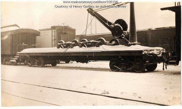 Railroad Wrecker at Houlton, 1939