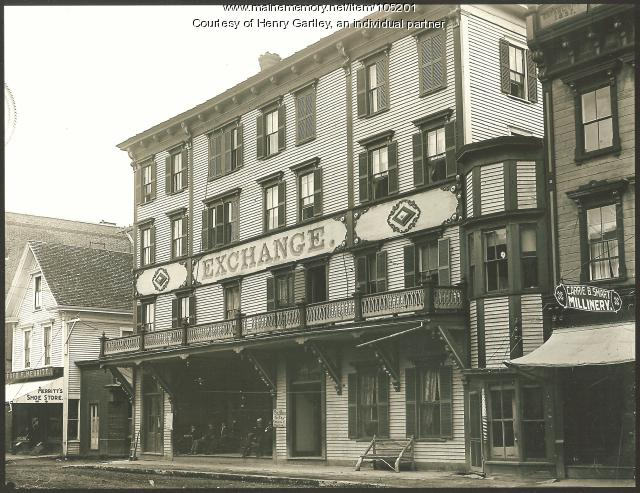 The Exchange Hotel, Houlton, ca. 1896