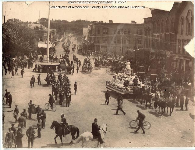 Market Square on the Fourth of July, Houlton, ca. 1897