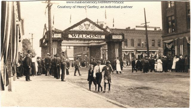 The Victory Gate, Houlton, 1919