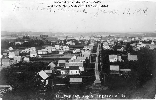 Franklin Avenue from Reservoir Hill, Houlton, 1908