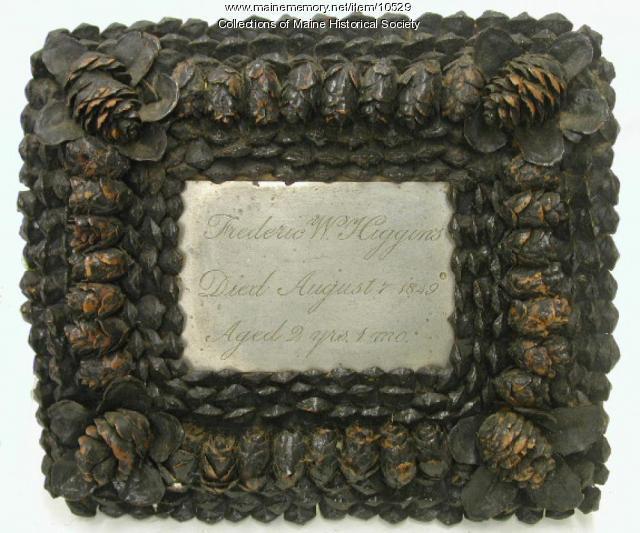 Frederic W Higgins Coffin Plate, 1849