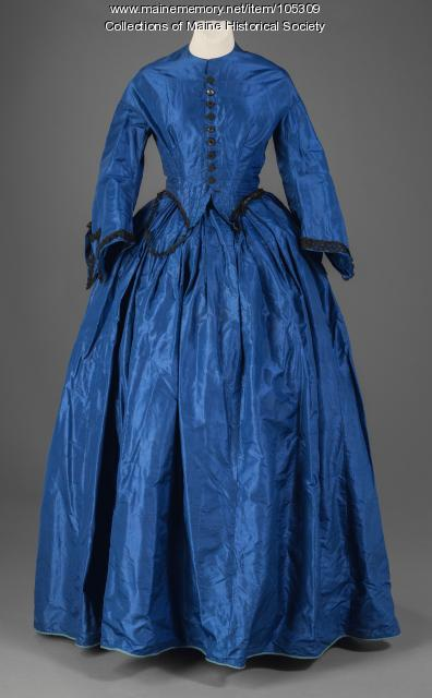Phebe Cole Townsend's 'electric' blue dress, Alexander, ca. 1863