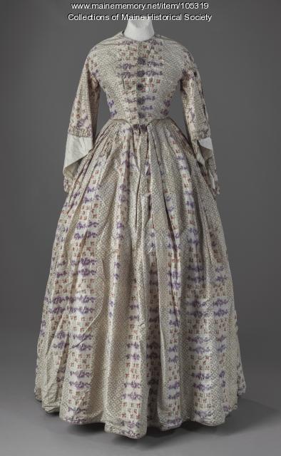 """Leavitt family """"day-to-night"""" dress, Eastport, ca. 1860"""