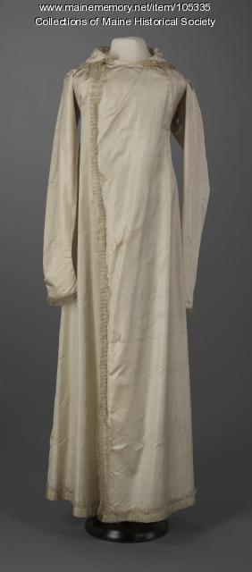 French-inspired silk coat, ca. 1800