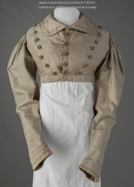 Zilpah Wadsworth Longfellow's spencer jacket, Portland, 1827