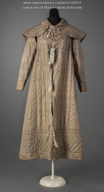 "Sarah Bowman Winter's ""fancy weave"" coat, Bath, ca. 1825"