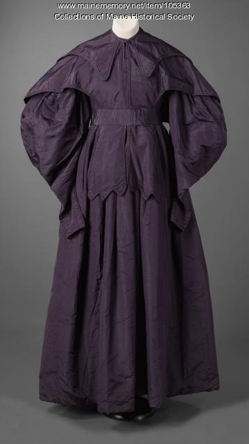 Leavitt family coat-dress, Eastport, ca. 1830